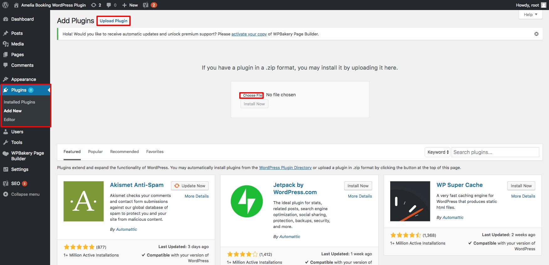 Installing - Amelia Booking WordPress Plugin