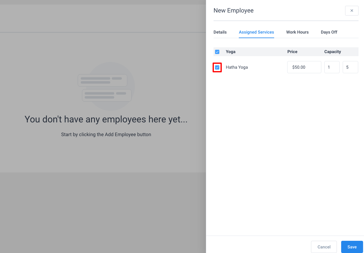 Assign Service To Employee - Amelia WordPress Booking Plugin