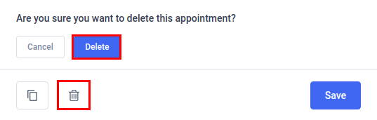 Amelia WordPress - Delete Appointment
