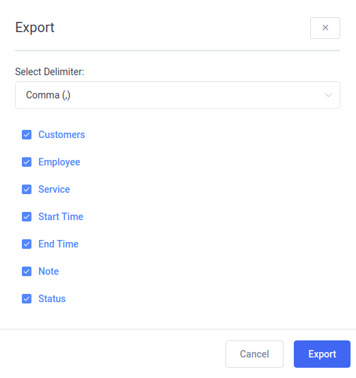 Amelia WordPress - Export Appointments