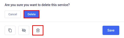Amelia WordPress - Delete Service