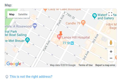 Amelia WordPress - Location Right Address