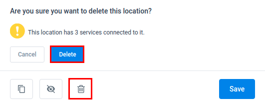 Amelia WordPress - Delete Location