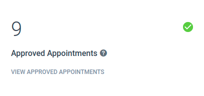 Amelia WordPress - Dashboard Approved Appointments