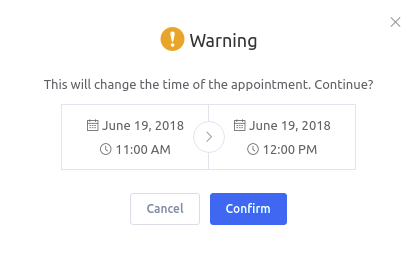 Amelia WordPress - Calendar Reschedule Appointment