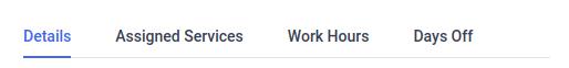Amelia WordPress - Employee details tab