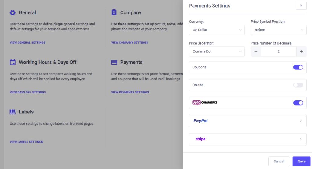 Woocommerce Integration Amelia Wordpress Booking Plugin
