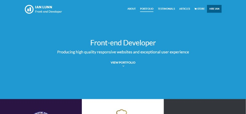 Amazing Portfolio Websites with Great Design (145 Examples)