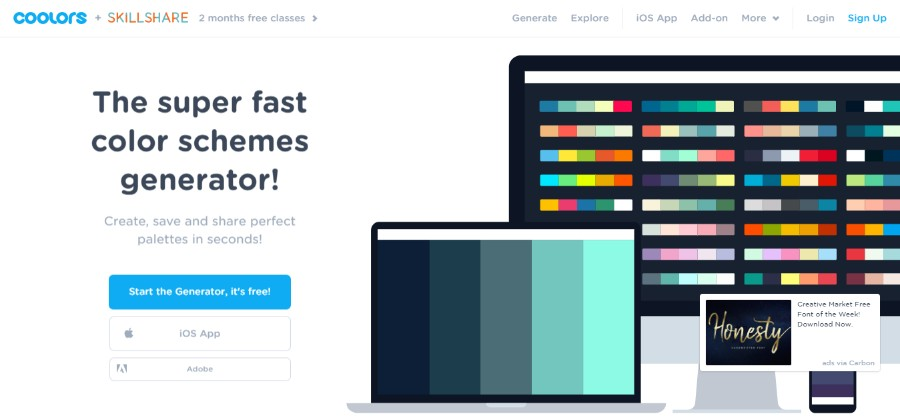 Website Color Schemes That Look Amazing 30 Color Palettes