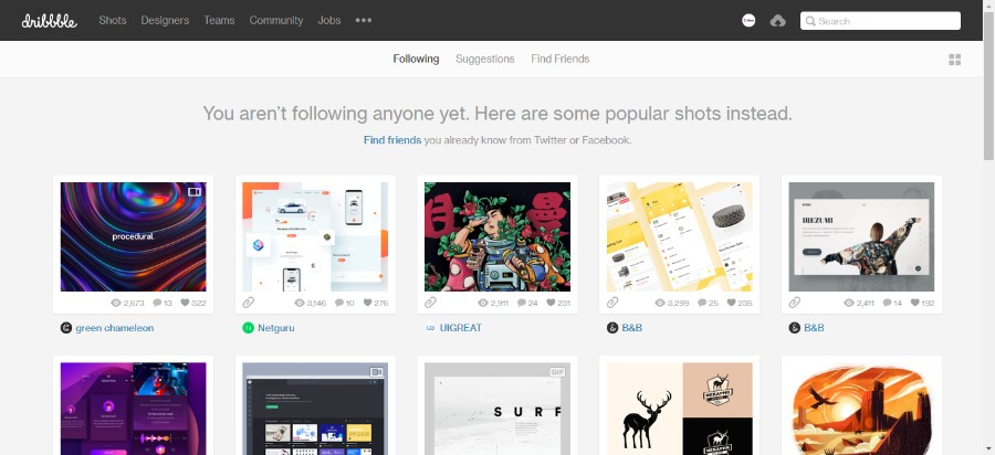 c66d5ba631428 Dribbble is another free online portfolio website popular among UX UI  designers and in many ways