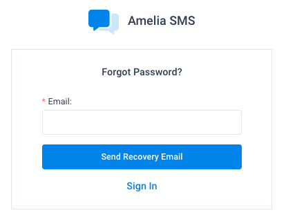 Forgot Password Amelia WordPress Booking Plugin