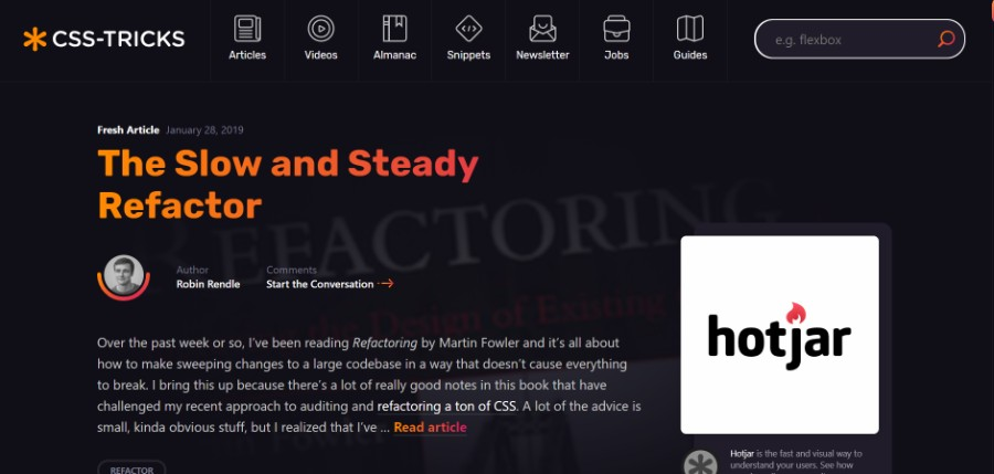 Why using a dark background on a website isn't that bad