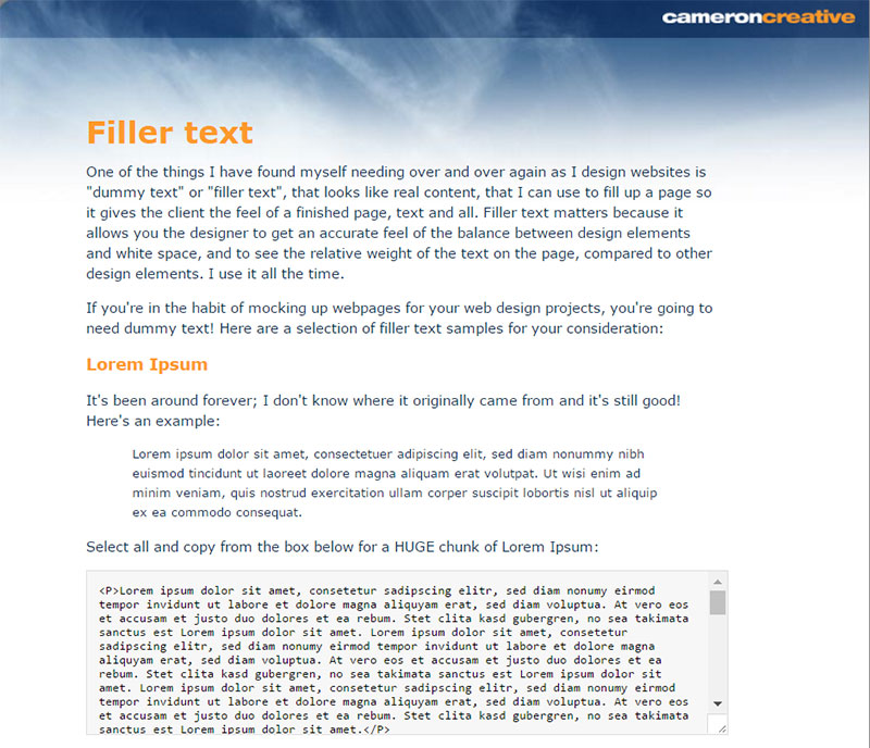 11 Great Dummy Text Generator Options to Choose From