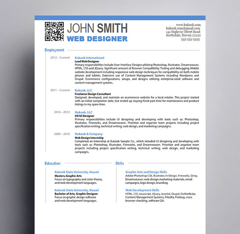 Perfecting Your Web Designer Resume A Guide Examples