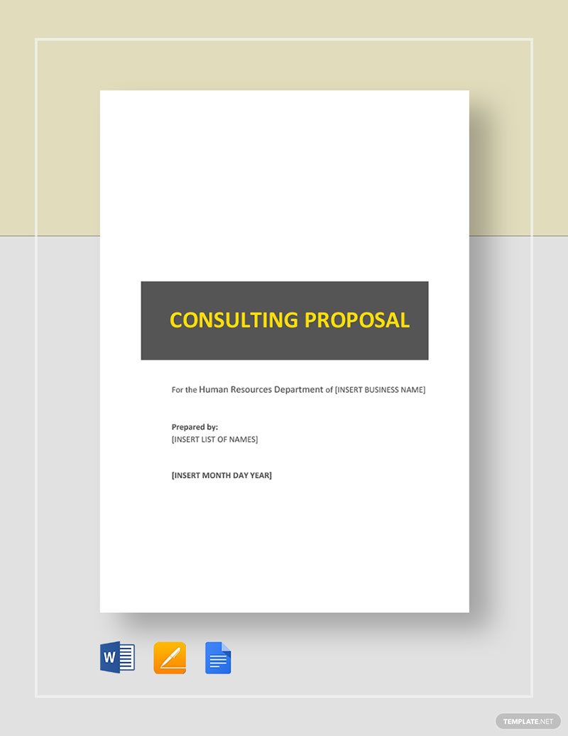 Consulting Proposal Template Examples To Use For Your Clients