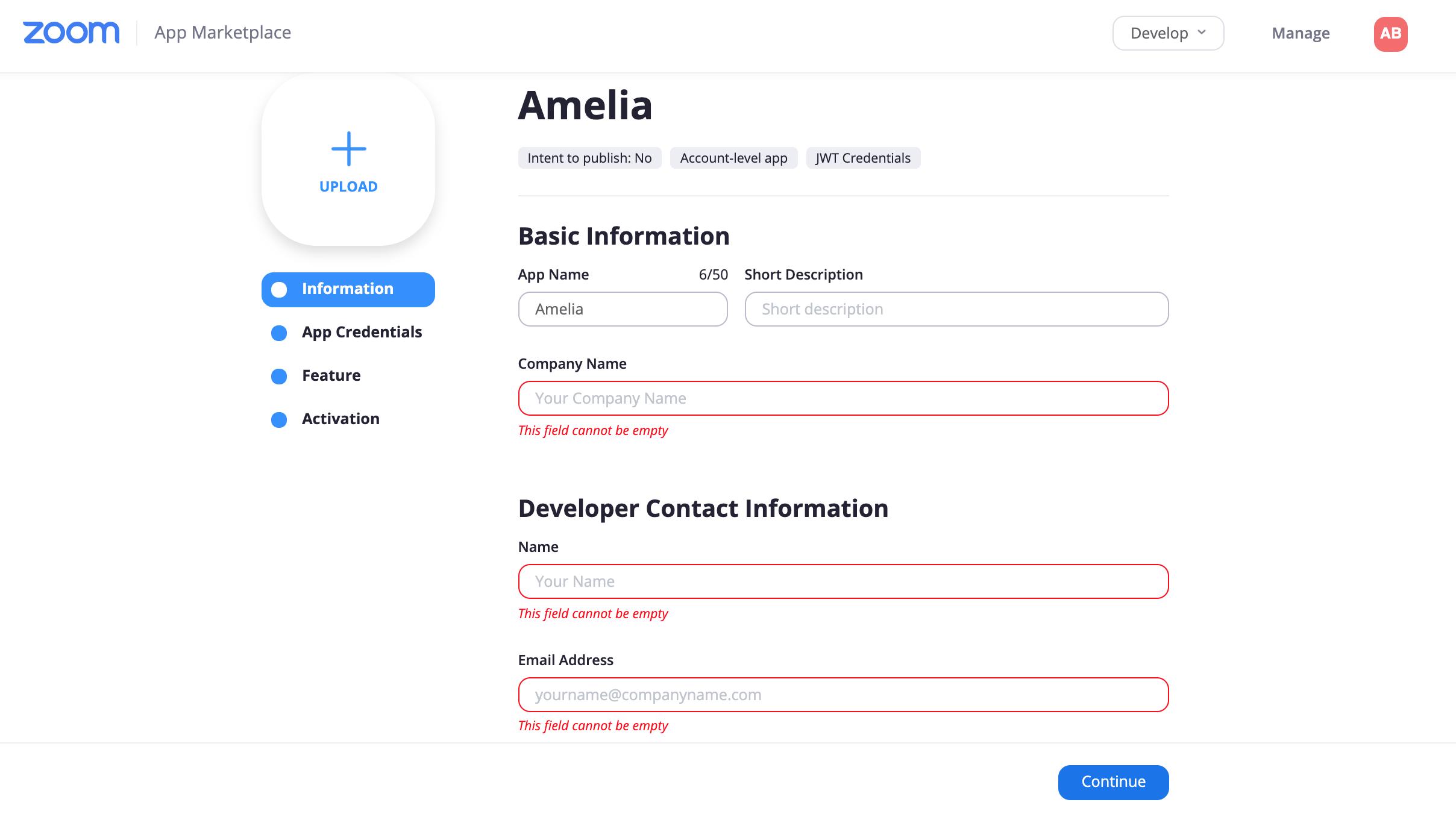 Zoom App Basic Info Amelia Booking