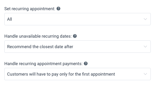 Recurring Appointments Amelia WordPress Booking plugin