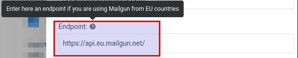 Mailgun EU endpoint