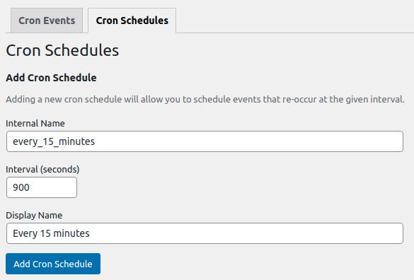 Cron Schedule