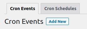 Add new cron event